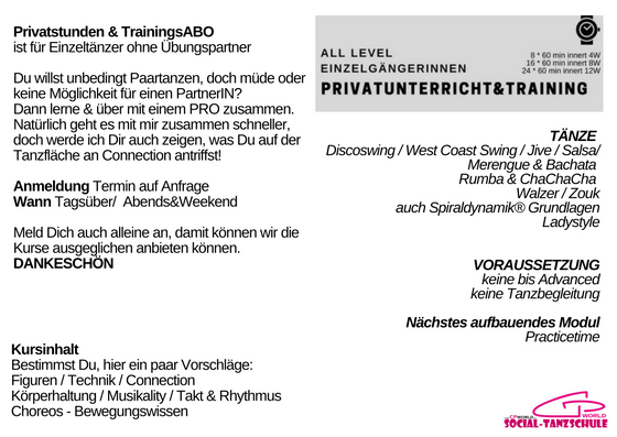 Modul Privatstunden&Trainings ABO