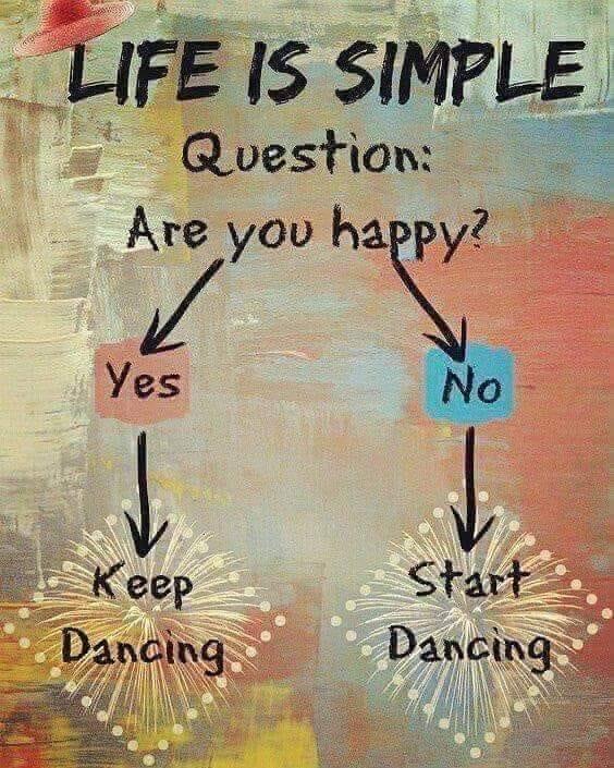 Keep dancing oder start dancing